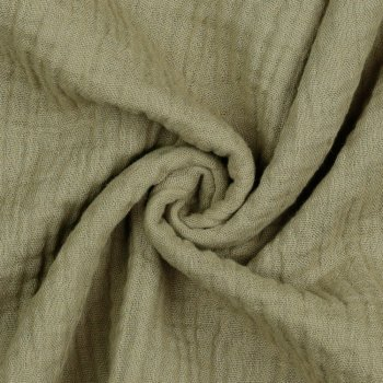 Musselin Double Gauze taupe